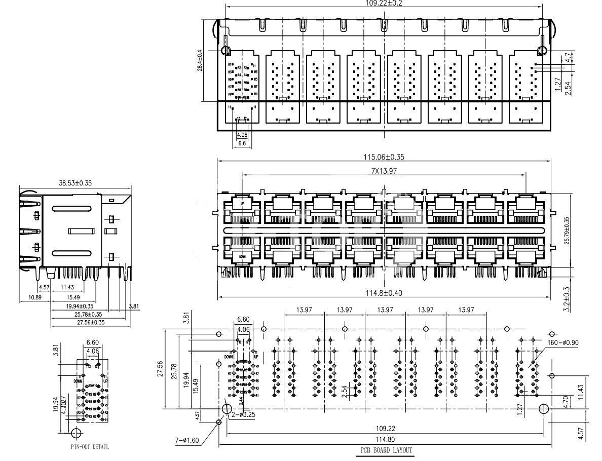 b-top 产品类型 rj45 产品应用 pcb 产品性质 母座 价格 ¥/pcs 电路
